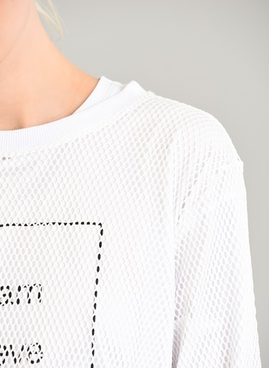 People By Fabrika File Sweatshirt Beyaz
